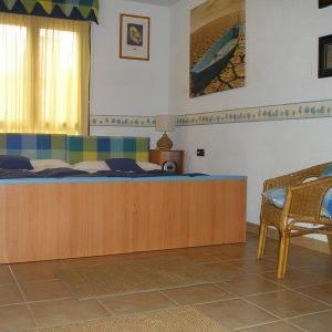 Cama unida - Habitación Azul - Casa rural - Casa Saleros - Navarrete, la Rioja