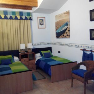 Habitación Azul_ Casa Saleros.