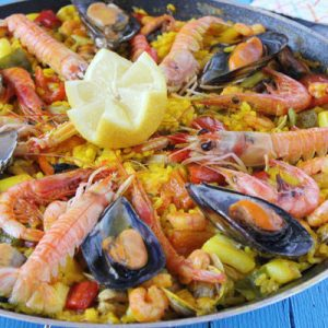 Paella preparada en casa rural Casa Saleros - Navarrete, La Rioja