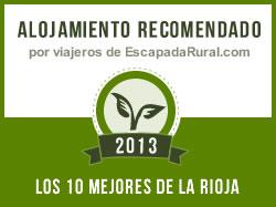 Alojamiento recomendado por viajeros de escapadarural.com 2013 - los mejores de la rioja