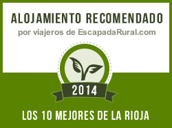 Alojamiento recomendado por viajeros de escapadarural.com 2014 - los mejores de la rioja